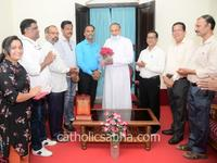 Catholic Sabha new president, office bearers visit Mangalore Bishop